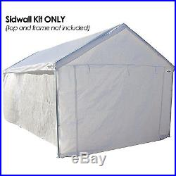 Garage Canopy Side Wall Kit Big 10 x 20 Tent Portable White Car Shelter Carport