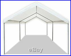 Garage Canopy Tent Carport Garden Patio White Tarp Cover Car Vehicle Large Shade