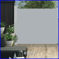 Garden Retractable Side Awning Patio Balcony Privacy Screen Sunshade Canopy Grey