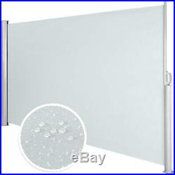 Garden Side Awning Sunshade Retractable Housing And Support Post Grey