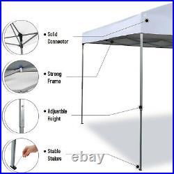 Gazebo Canopy 10x10 Pop Up Tent Sun Shade UV-Block Portable Outdoor Awning White