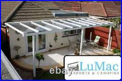 Glass clear roof cover Patio roof covering Shelter Garden Awning Decking Canopy