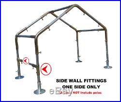 Greenhouse Kit 3/4 or 1 or 1-1/2 Low Peak, Slope, Flat Canopy 10x10/20/30/40/50