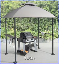 Grill Gazebo Canopy Tent 5'x8' Outdoor Patio Fireproof BBQ Shelter Roof Backyard