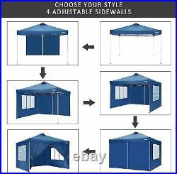 Heavy Duty Canopy Party 10'x10' Pop Up Wedding Tent Gazebo with 4 Side Walls NEW