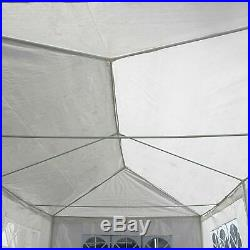 Heavy Duty Portable Garage Carport Car Shelter Outdoor Canopy Tent 10'X30' White