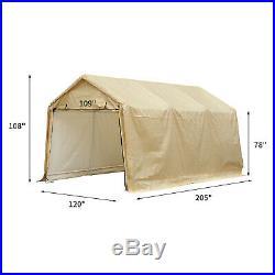 Heavy Duty Steel Carport Canopy Caravan Tent Portable Garage Shelter Car Port