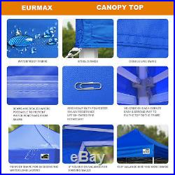 Heavy Duty Waterproof Commercial Tent 10x10 Ez Pop Up Canopy Blue With Wheeled Bag
