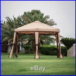 Hexagonal Patio Canopy Folding Gazebo Garden Tent Outdoor Sunshade Cover Party