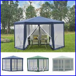 Hexagonal Patio Gazebo Outdoor Canopy Party Tent Activity Event with Mosquito Net