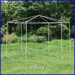 Hexagonal Patio Gazebo Outdoor Canopy Party Tent Garden Tent with Mosquito Net