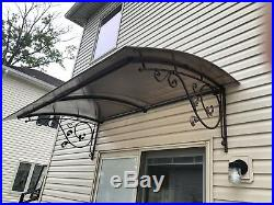 Homenetics Steel Canopy Awning WindowithDoor, UV Protection Polycarbonate cover
