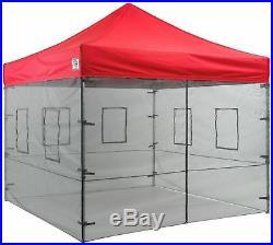 Impact Canopy 10x10 Mesh Sidewalls Food Vending Sidewalls for Pop Up Canopy Tent