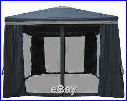 Impact Canopy 10x10 Outdoor Backyard Gazebo Netting Patio Canopy Shade Mosquito
