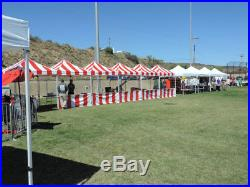 Impact Canopy Carnival Kit 10x10 Pop Up Canopy Tent Vendor Booth with Sidewalls