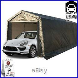 Kdgarden 10 x 20-Feet Heavy Duty Domain Carport Portable Enclosed Car Canopy