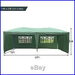 Kinbor 10x20 Canopy Wedding Tent Party Garden Outdoor Heavy Duty Gazebo, Green