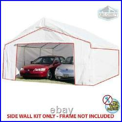 King Canopy 18 ft x 20 ft Carport Canopy Sidewall Kit with Flaps