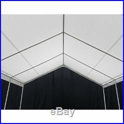 King Canopy Hercules White Canopy Carport 18 x 20 ft, White, 18 x 20