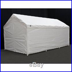 King Canopy Side Wall Kit with Flaps-10 x 20 ft, White/Off-White