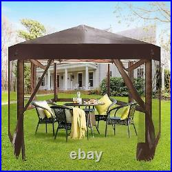 Koreyosh Folding Hexagon Patio Outdoor Party Tent Backyard Garden Shelter Canopy