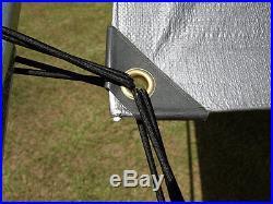 LWS Canopy Car Port Kit Set 10' x 20' All Weather Tarp 3x-Coat UV Sun Shade SLV