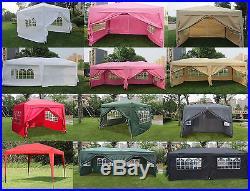 MCombo 10x10 10x20 EZ Pop UP Wedding Party Tent Folding Gazebo Canopy With Sides