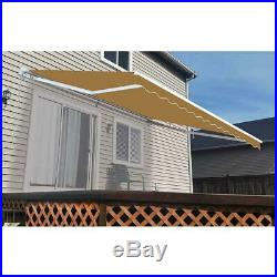 Manual Patio Retractable Awning (120 in. Projection) Sand 12' Decor Display Home