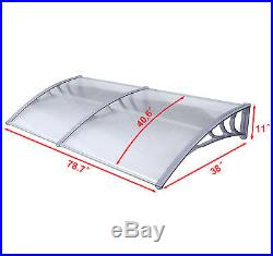 Mcombo 40x80 Window Awning Polycarbonate Front Door Patio Cover Canopy Tent