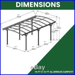 Metal Canopy Carport Pergola Garage Vehicle Shelter Gazebo Car Port Patio Cover
