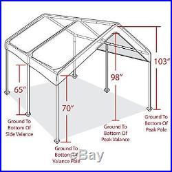 Metal Carports Party Canopy Caravan Patio 10 X 20 Ft Shelter Shade Yard Weddings