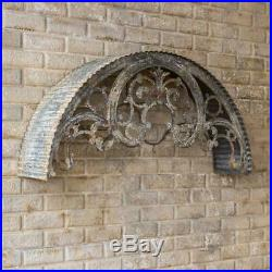 Metal Window Awning Arched Corrugated Distressed