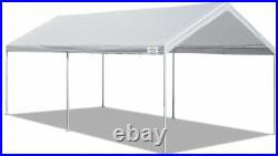 Multi-Use Shed Outdoor Canopy 10X20 Ft Domain Carport Garage Heavy Duty White