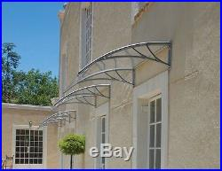 NEW PC AWNING FOR WINDOW & DOOR 40x36 POLYCARBONATE (CLEAR HOLLOW SHEET) GREY