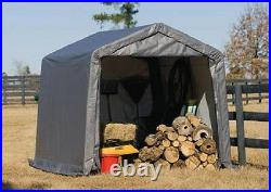 NEW! ShelterLogic 10x10x8 Portable Garage Shed Canopy Car ATV Motorcycle Tractor