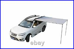 New 2x2.5M Car Side Awning Roof Top Tent Oxford Sun Shade Shelter Car Tent Grey