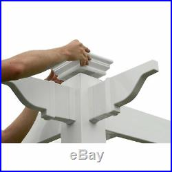New England Arbors Lenox 8.5 x 8.5 Slide Lock Pergola, White, Under 10 x 10