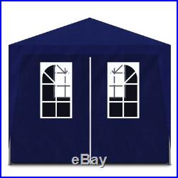 Outdoor 10'x30' White/Blue Canopy Party Tent Gazebo Cater Events 8 Sidewalls