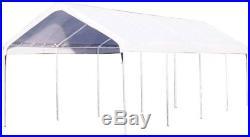 Outdoor Carport Canopy 10 x 27 Motor Port Steel Frame Heavy Duty Car Shade