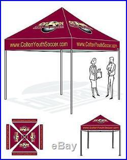 Outdoor Ez Pop Up Canopy Gazebo Tent 10 215 10 Custom Graphic