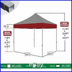 Outdoor Instant Canopy Tent 10x10 Folding Ez Pop Up Gazebo Patio Shade Tent