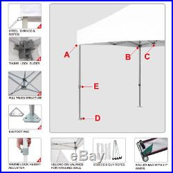 Outdoor Patio Folding Event Tent Shelter 10x10 EZ Pop Up Canopy WithN Side Walls
