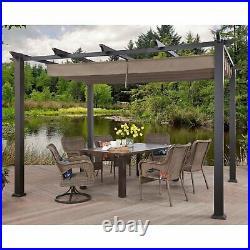 Outdoor Patio Gazebo Pergola 10'x12' Canopy Party BBQ Garden Aluminum Yard