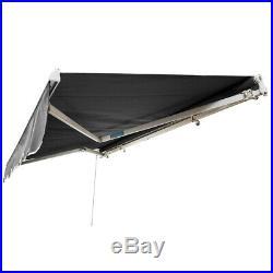 Outdoor Patio Manual Retractable Window Patio Awning Canopy Cover Deck Door Cafe