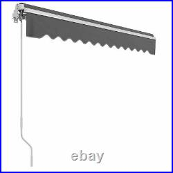 Outdoor Sun Shade Shelter Patio Awning Canopy Backyard 2 Sizes Available Gray
