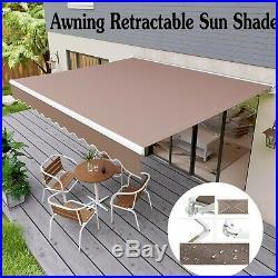 Outdoor Sun Shade Shelter Patio Awning Canopy Retractable Deck Cafe Backyard