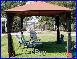 Outdoor home 10' x 12' backyard garden awnings Patio Gazebo canopy tent netting