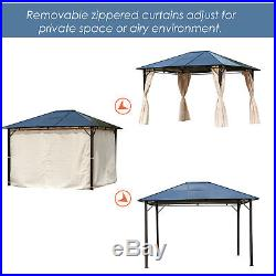 Outsunny 10' x 12' Steel Outdoor Steel Hardtop Party Gazebo Tent Canopy Cover