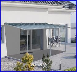Outsunny 10' x 18' Wall Mount Patio Door Cover Window Canopy Awning Aluminum