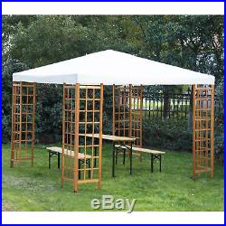 Outsunny 10'x10' Patio Gazebo Outdoor Fir Canopy Tent Shelter Pavilion Party